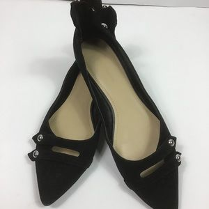 Marc Fisher Black Suede Flat Shoes